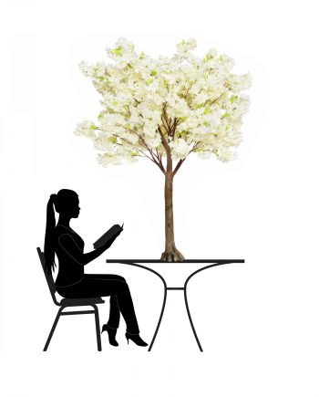 1.8m Cream Cherry Blossom Artificial Tree -For Hire-