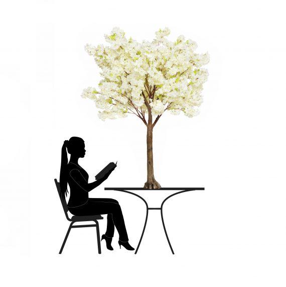 1.8m Cream Cherry Blossom Artificial Tree -For Hire-