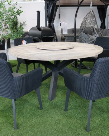 4 Seasons Lisboa Teak 6 Seater Dining set sold a t Highgate Furniture