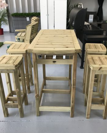 Highgate Furniture Wooden High Dining set