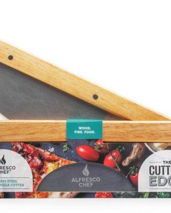 Alfresco Chef Mezzaluna rocking Pizza Cutter Sold at Highgate Furniture Southend On sea Essex