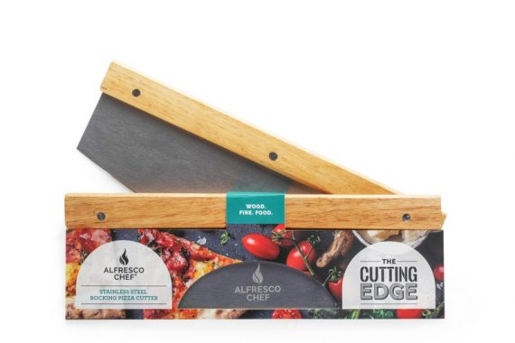 Alfresco Chef Mezzaluna rocking Pizza Cutter Sold at Highgate Furniture Southend On sea Essex