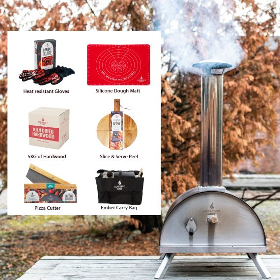 Alfresco Chef Portable Ember Pizza Oven Bundle deal