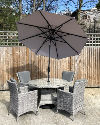 Highgate 4 Seater Garden Furniture Dining Set