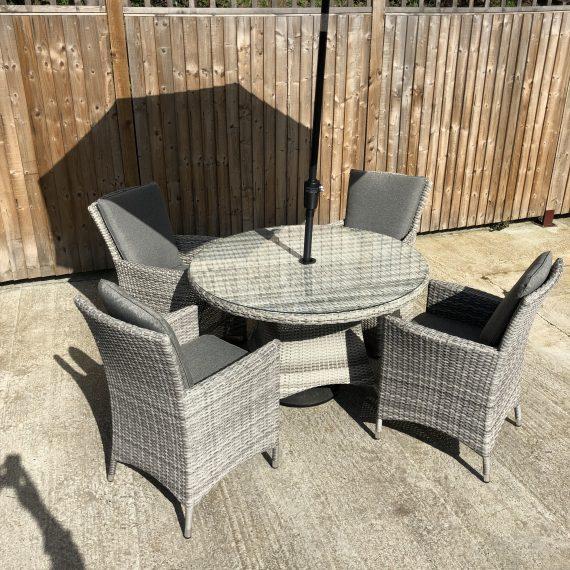 Highgate 4 Seater Garden Furniture Dining Set