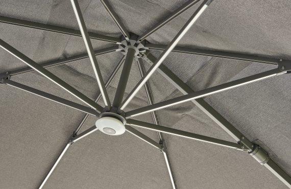 Royce Ambassador Square Cantilever Parasol LED 3x3