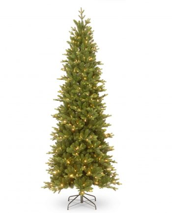 CARRINGTON FIR SLIM PRE-LIT ARTIFICIAL CHRISTMAS TREE
