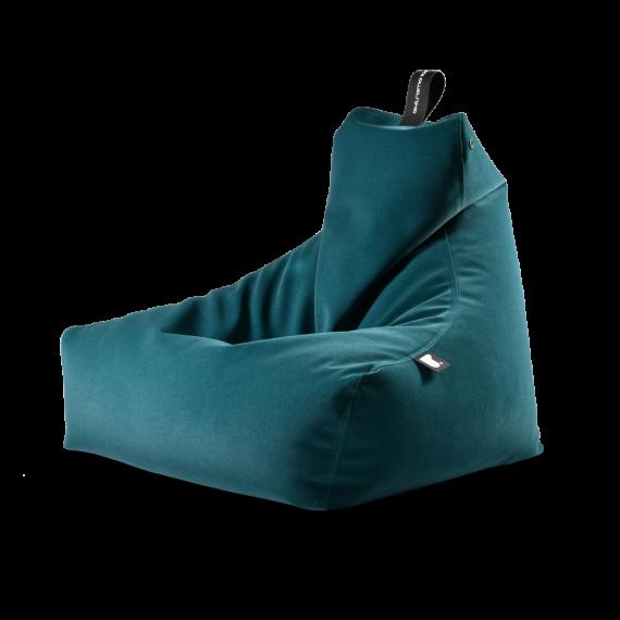 Teal suede bag