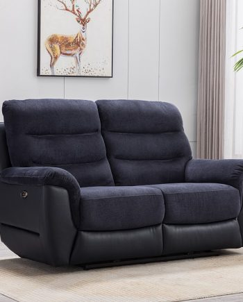 allas 2 seater sofa midnight blue