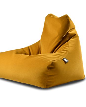 Mustard suede bean bag
