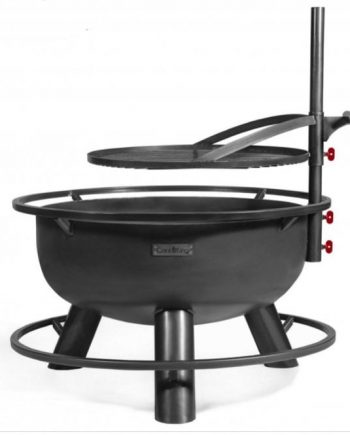 bandito fire bowl with grill plate