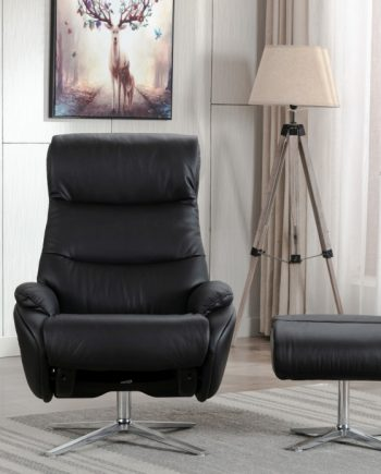 Dominican Leather Swivel Chair