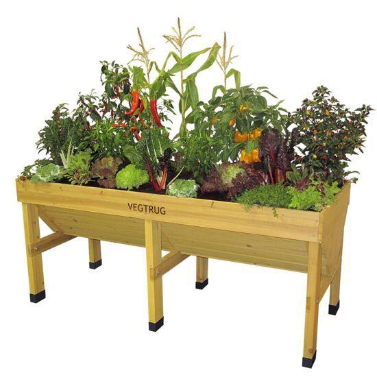 veg trug raised planter medium natural